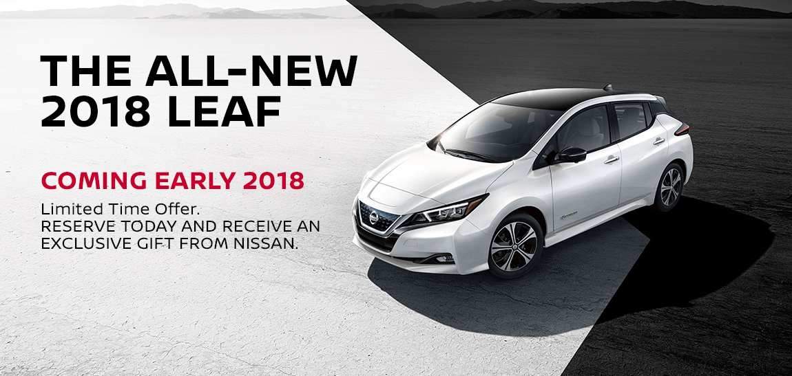 The All New 2018 Nissan Leaf Coming To Passport Nissan Md