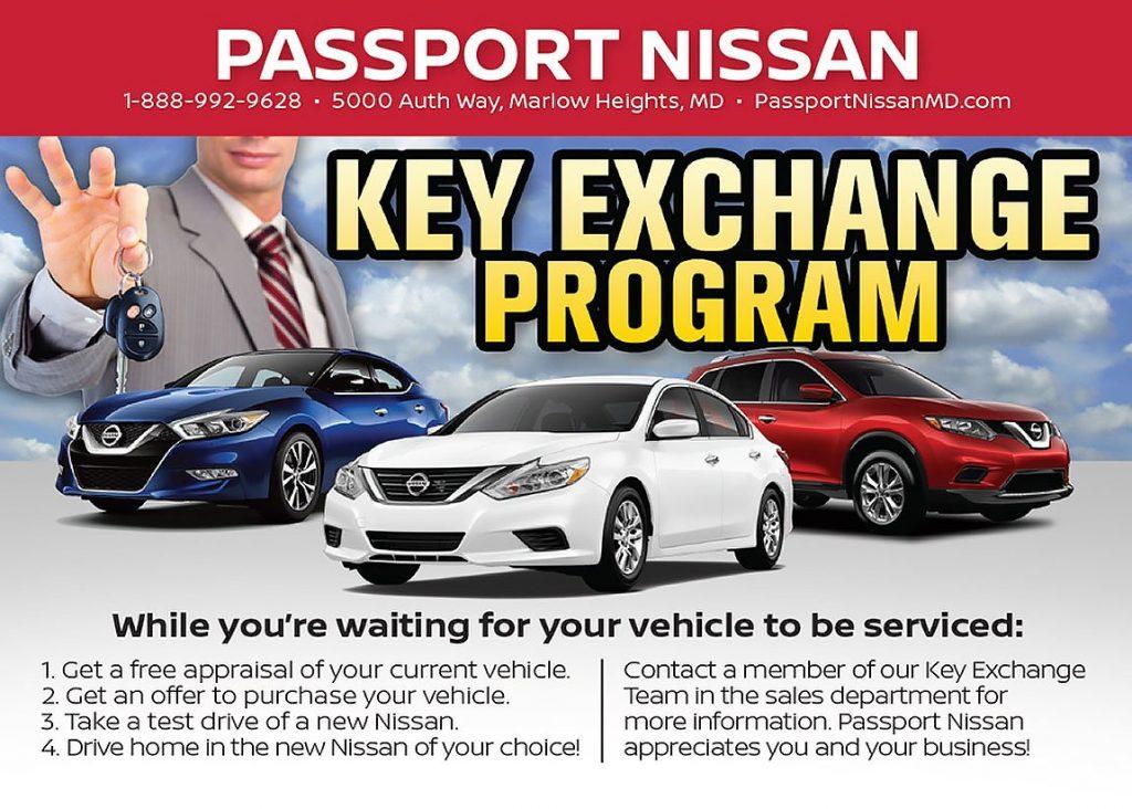 The Passport Nissan Key Exchange Program Offers Several
