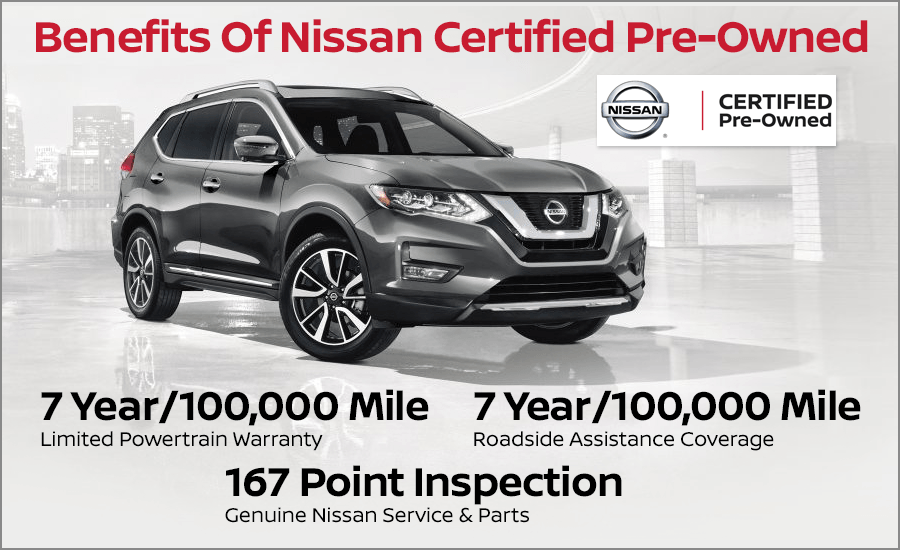 Nissan Certified Pre Owned >> Benefits Of Nissan Certified Pre Owned